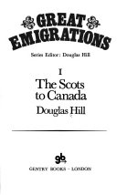 Great Emigrations I The Scots To Canada _ DOUGLAS HILL