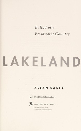 Lakeland Ballad Of A Freshwater Country _ ALLAN CASEY