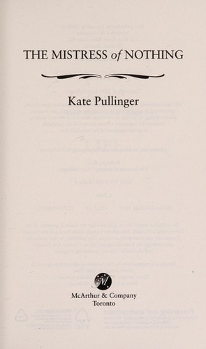 The Mistress Of Nothing _ KATE PULLINGER