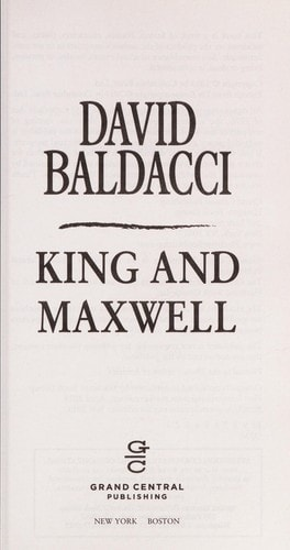 King And Maxwell _ DAVID BALDACCI