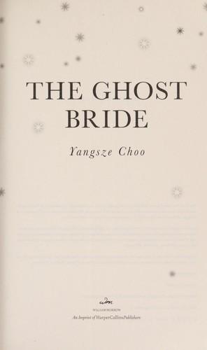 The Ghost Bride _ YANGSZE CHOO