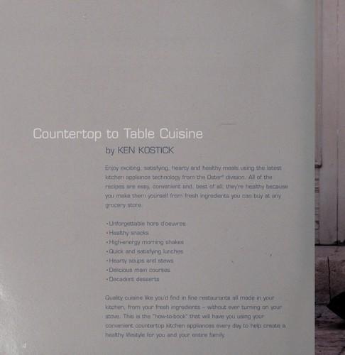 Countertop To Table Cuisine _ KEN KOSTICK