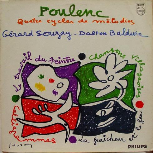 POULENC / GRARD SOUZAY / DALTON BALDWIN_Quatre Cycles De Mlodies