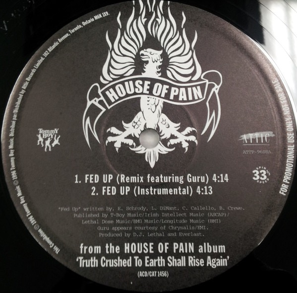 HOUSE OF PAIN_Truth Crushed To Earth Shall Rise Again