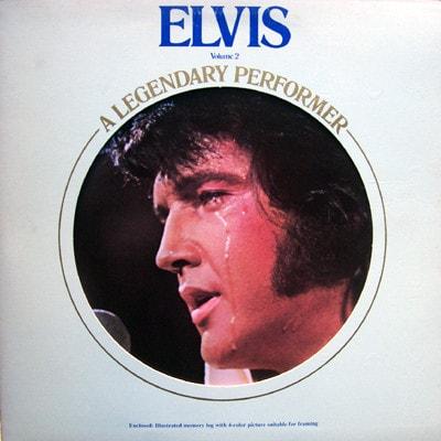 ELVIS PRESLEY_A Legendary Performer - Volume 2 _Gold Vinyl W/Orig Inner Sleeve And Stapled Booklet_