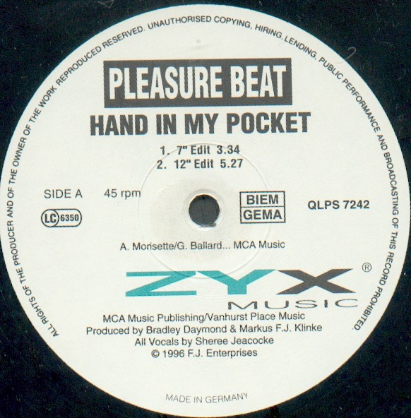 PLEASURE BEAT_Hand In My Pocket / First Time