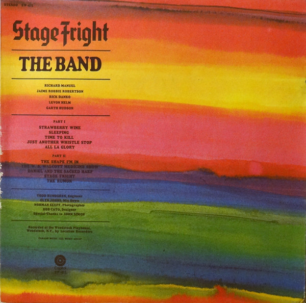 THE BAND_Stage Fright