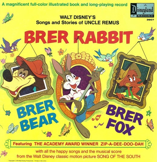 WALT DISNEY PRODUCTIONS_Brer Rabbit: Songs And Stories Of Uncle Remus