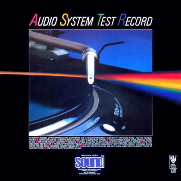 AUDIO SYSTEM TEST RECORD_84020
