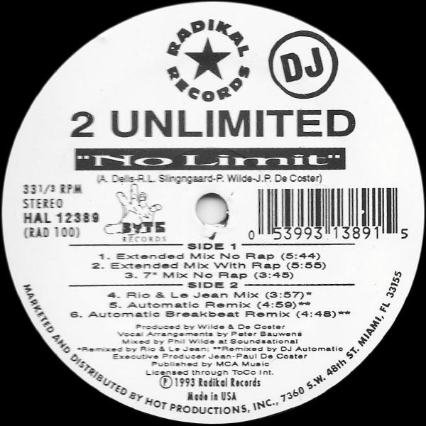 2 UNLIMITED_No Limit