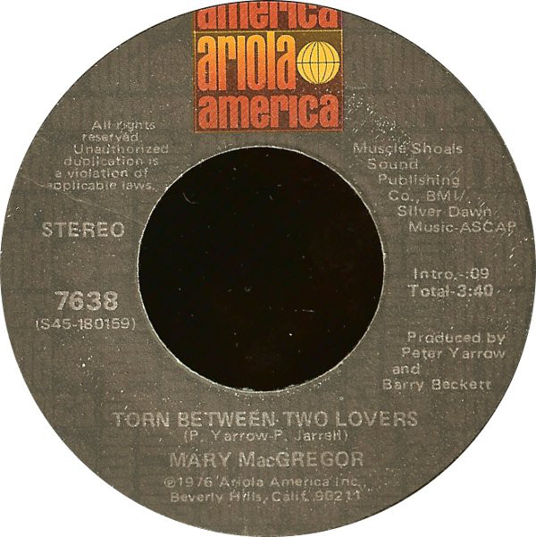 MARY MACGREGOR_Torn Between Two Lovers