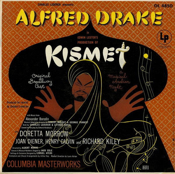 ALFRED DRAKE AND THE KISMET ORIGINAL BROADWAY CAST_Kismet