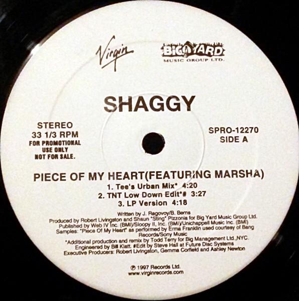 SHAGGY_Piece Of My Heart (Todd Terry Remixes)