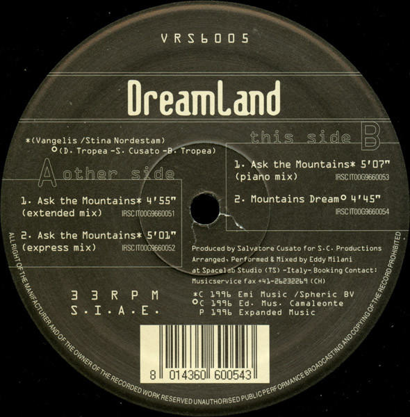 DREAMLAND_Ask The Mountains