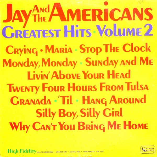 JAY AND THE AMERICANS_Greatest Hits Volume 2